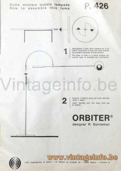 Sonneman Orbiter Floor Lamp - Luci Illuminazione Manual