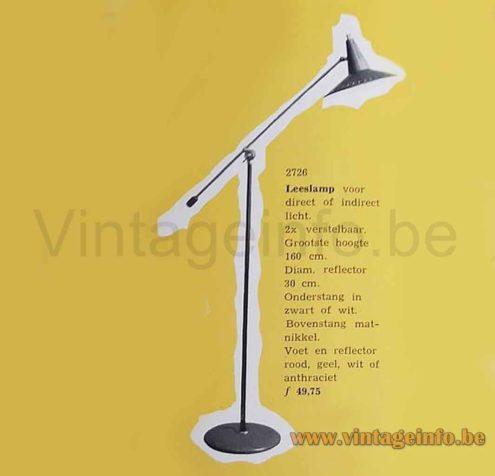 1950s Panama Style Floor Lamp - Van Doorn Culemborg Catalogue Picture The Netherlands 1960s
