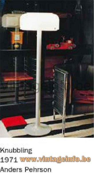 Ateljé Lyktan Knubbling Floor Lamp - Catalogue Picture - 1970s Design: Anders Pehrson, Sweden