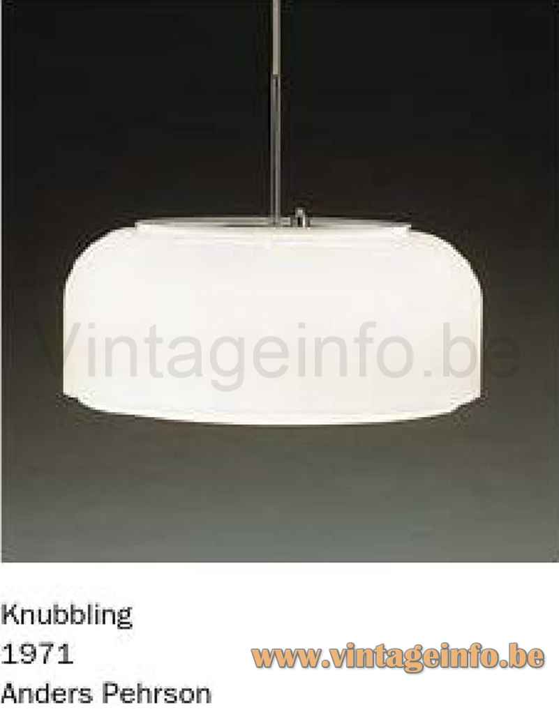 Ateljé Lyktan Knubbling Pendant Lamp - Catalogue Picture - 1970s Design: Anders Pehrson, Sweden