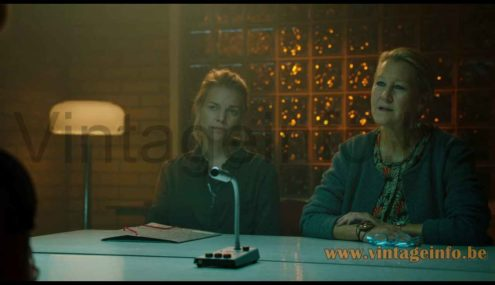 Ateljé Lyktan Knubbling Floor lamp used as a prop in the 2018 TV series Springvloed S2E4