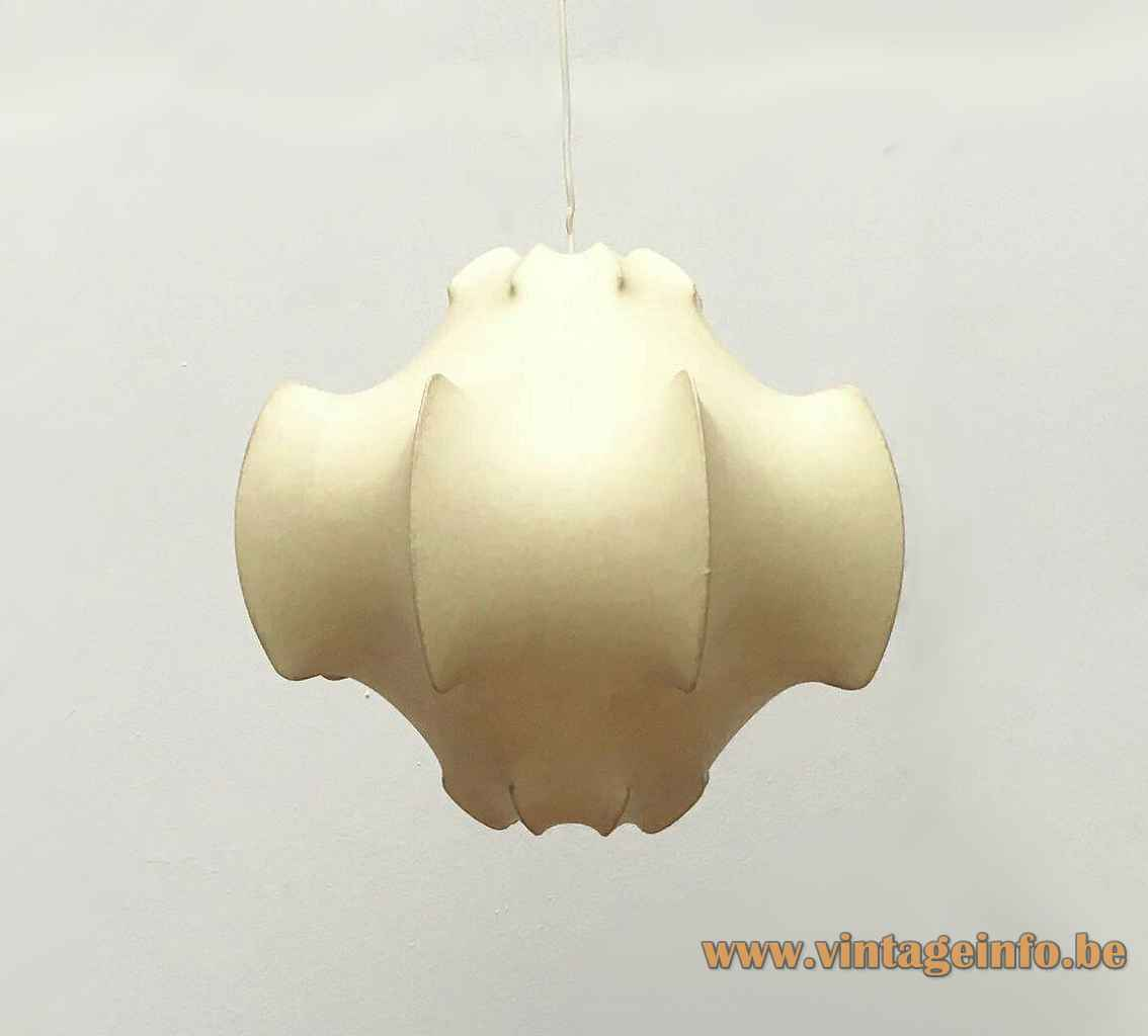 FLOS Viscontea cocoon pendant lamp resin plastic lampshade 1960 design: Achille & Pier Giacomo Castiglioni Italy E27 socket
