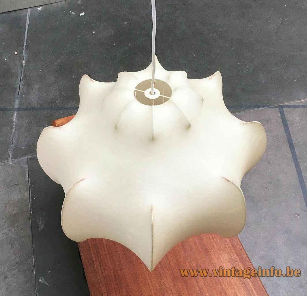 FLOS Viscontea cocoon pendant lamp resin plastic lampshade 1960 design: Achille & Pier Giacomo Castiglioni Italy top view