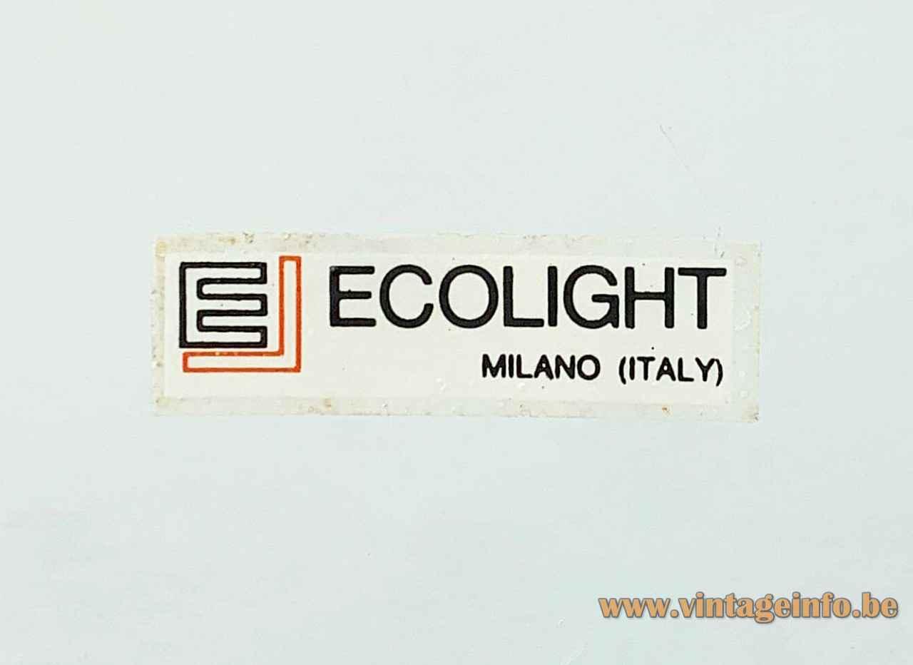 Ecolight mushroom table lamp EL label Milano design: Gaetano Sciolari Italy 1960s 1970s