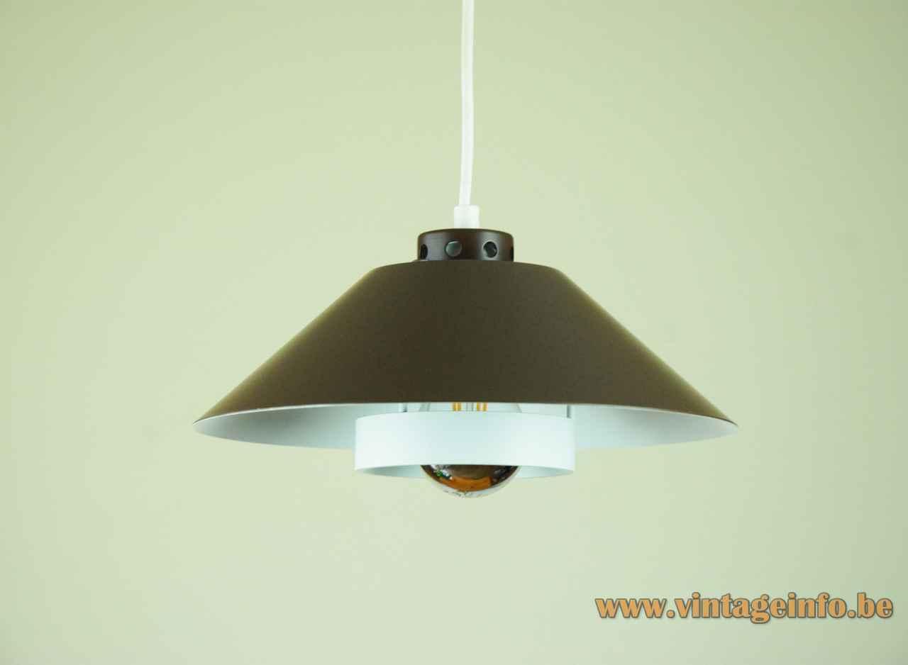 Fog & Mørup Athene pendant lamp conical round metal lampshade 1970s design: Jørgen Raaschou-Nielsen Denmark