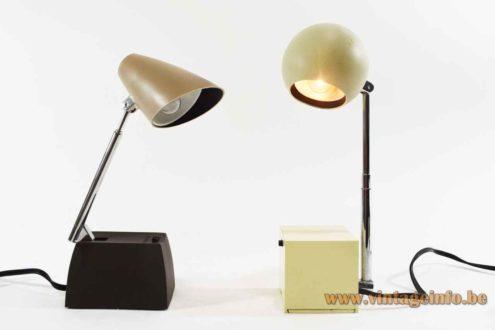 Lightolier Lytegem desk lamp & Lyric table lamp 1965 design: Michael Lax USA 1960s 1970s