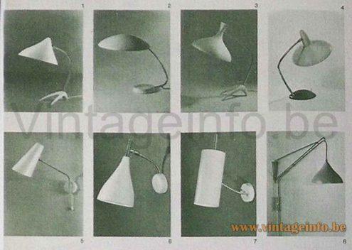 1950s Cosack Crowfoot Desk Lamp - 1961 Catalogue Picture