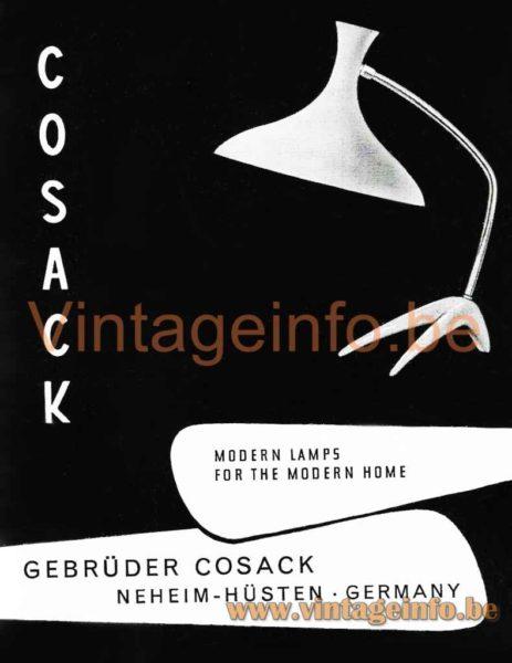 1950s Cosack Crowfoot Desk Lamp - Catalogue Picture