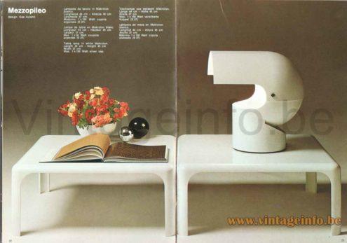 Gae Aulenti Artemide Mezzopileo Table Lamp - 1973 Catalogue Picture