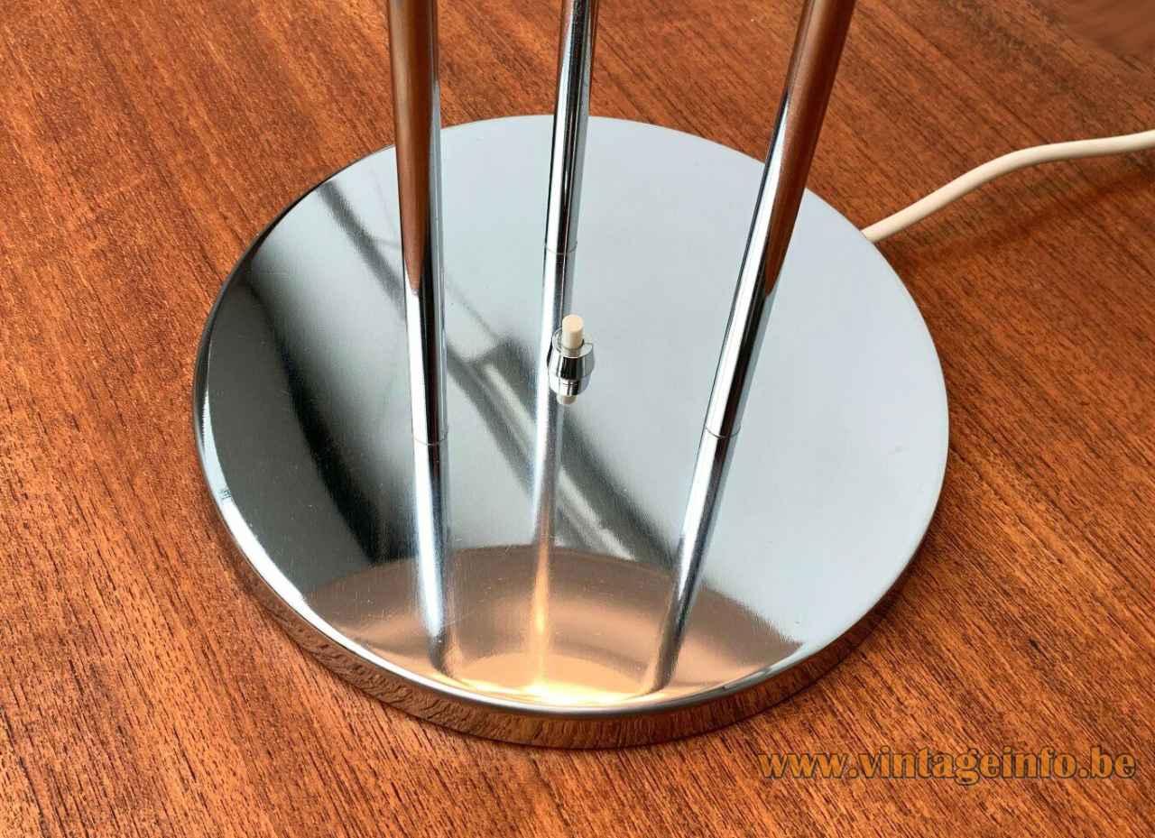 Louis Poulsen PH 5 table lamp round chrome base & rods design: Poul Henningsen 1950s 1960s Denmark