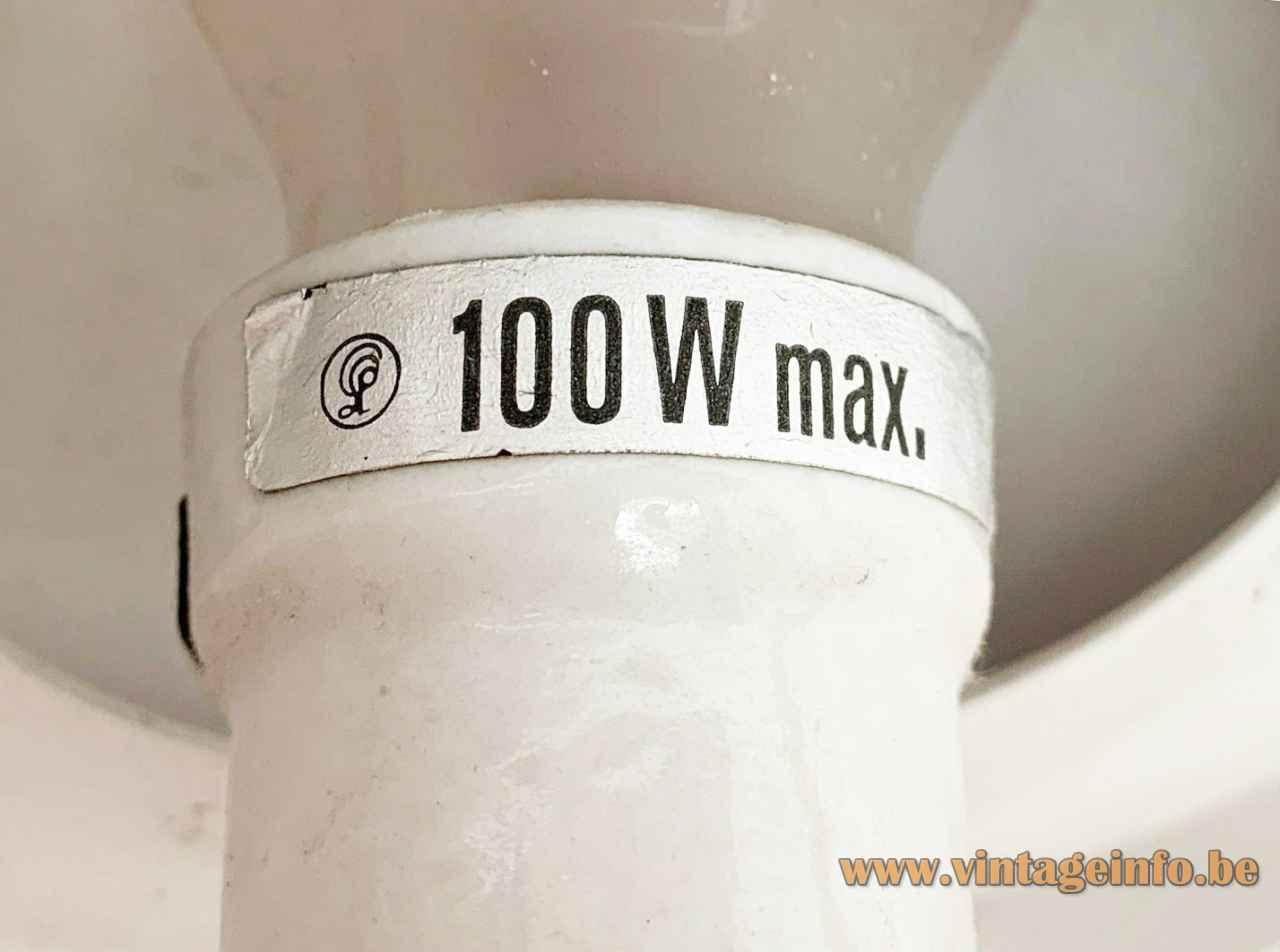 Louis Poulsen PH 5 table lamp label logo 100 watt design: Poul Henningsen 1950s 1960s Denmark