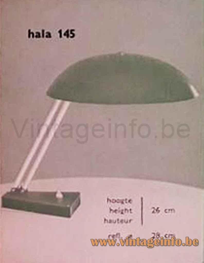 Metalarte Hala 145 Desk Lamp - 1961 Catalogue Picture