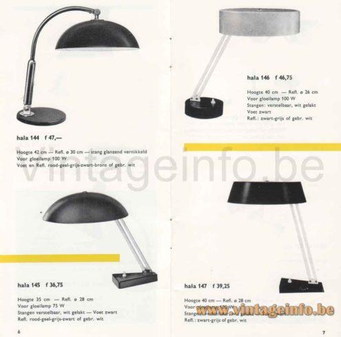 Metalarte Hala 145 Desk Lamp - Models 144, 145, 146, 147 - 1967 Catalogue Picture