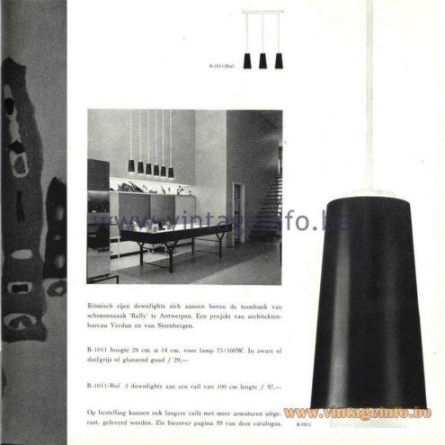 Raak B-1011 Pendant Lamp - Catalogue 5 - 1962