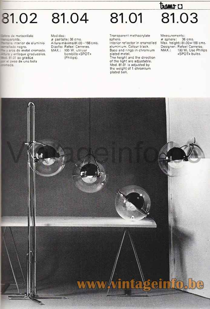 Rafael Carreras Tramo Table Lamp - Catalogue Picture