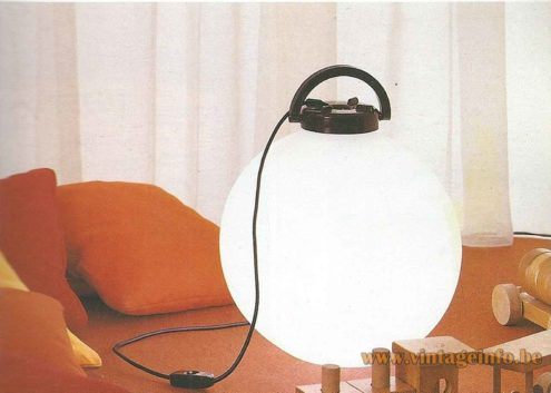 Valenti Tama Floor Lamp - 1975 Design: Isao Hosoe, Italy - Catalogue Picture 1983