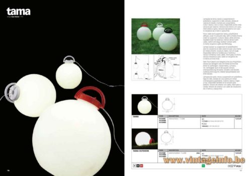 Valenti Tama Floor Lamp - 1975 Design: Isao Hosoe, Italy - Catalogue Picture 2015