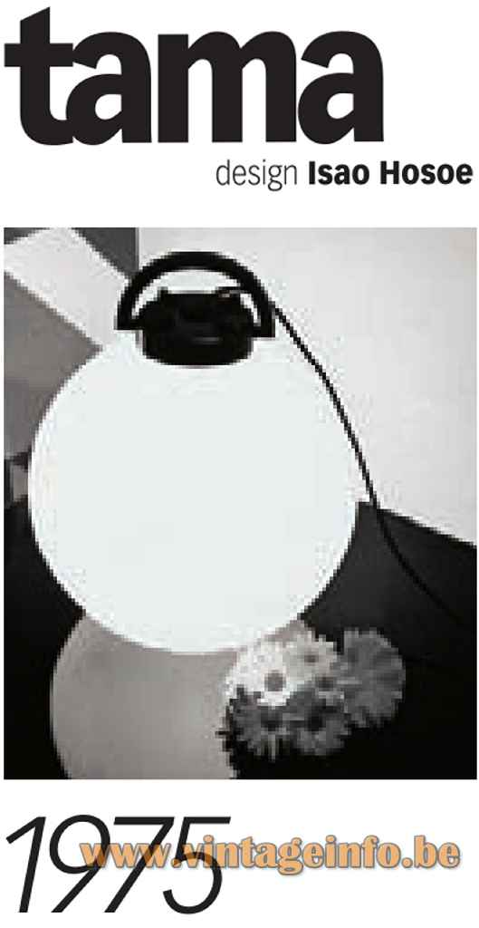 Valenti Tama Floor Lamp - 1975 Design: Isao Hosoe, Italy - Catalogue Picture