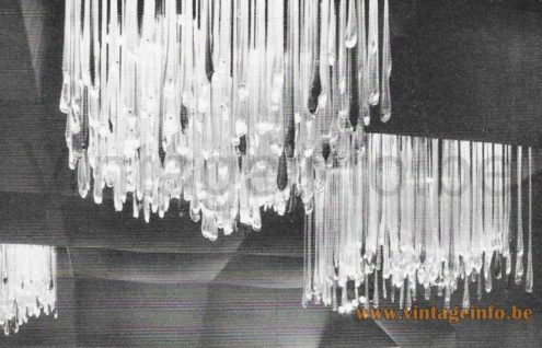 Venini Murano Glass Teardrop Flush Mount 1960s Catalogue Picture
