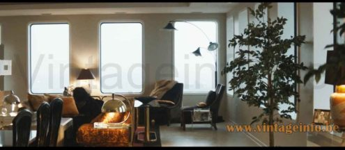 Franco Albini Sirrah pendant lamp table lamps used as a prop in the 2018 film White Boy Rick