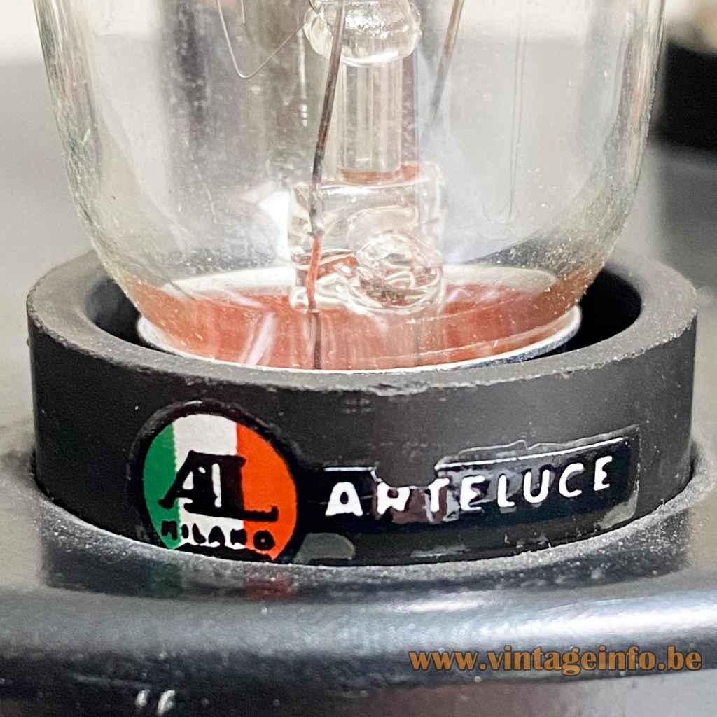 Gino Sarfatti Arteluce 593 table lamp Italian flag label E14 socket 1960 design Italy