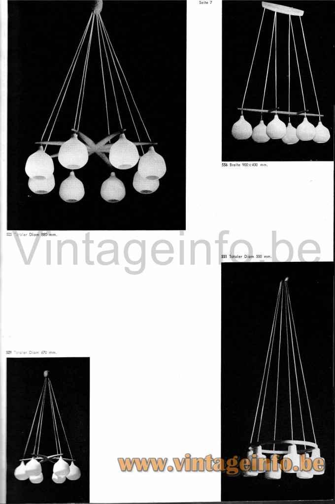 Luxus Double Pendant Lamp 509 - 1964 Catalogue Picture