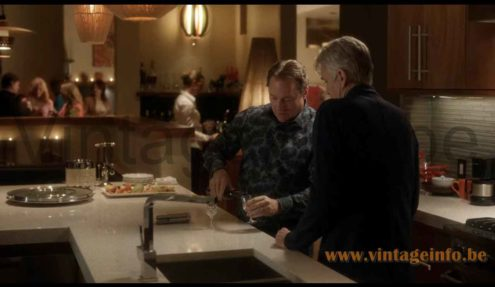 Temde sisal pendant lamp used as a prop in the 2014 TV Series Fargo S1E9