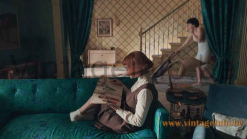 Temde sisal table lamp used as a prop - 2020 TV series The Queen's Gambit S1E2