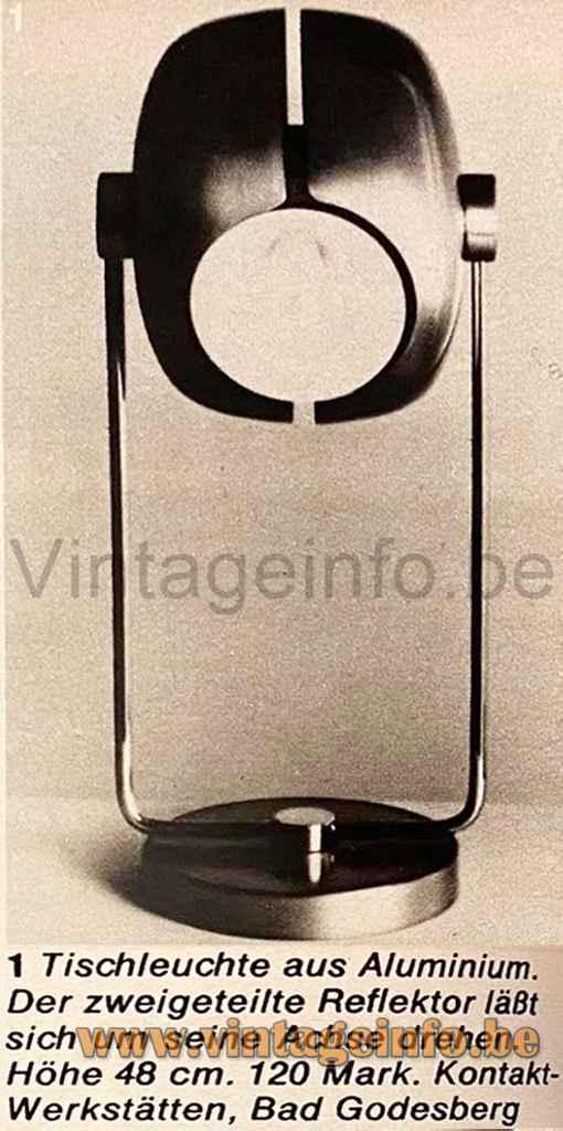Split Globe Floor Lamp - Kontakt-Werkstätten, Germany - Catalogue Photo 1960s