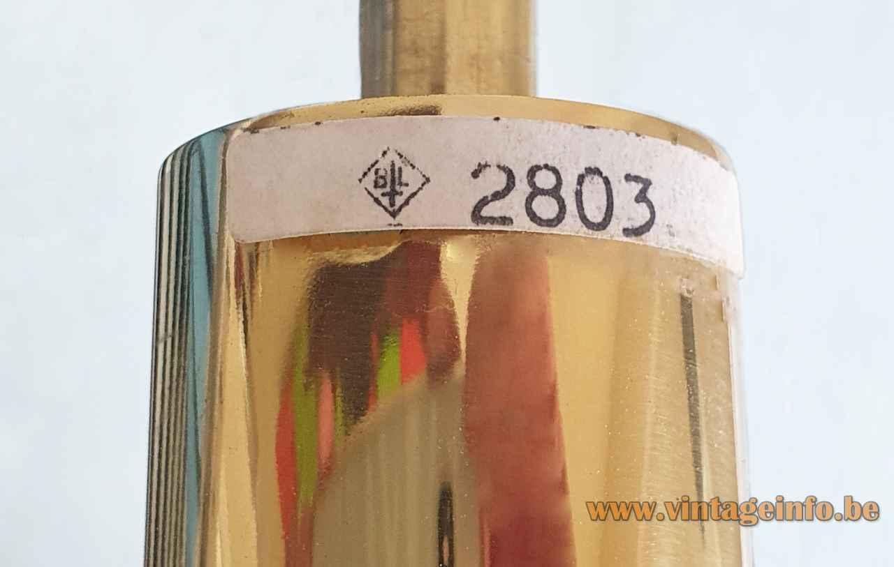Berlin Leuchten smoked glass chandelier 2803 label logo 1970s Germany