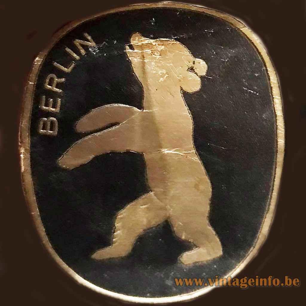 Berlin Leuchten label - Germany - Bear, Bär