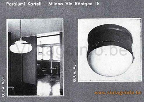 Tramo Kartell Flush Mount - 1960s Kartell Catalogue Picture